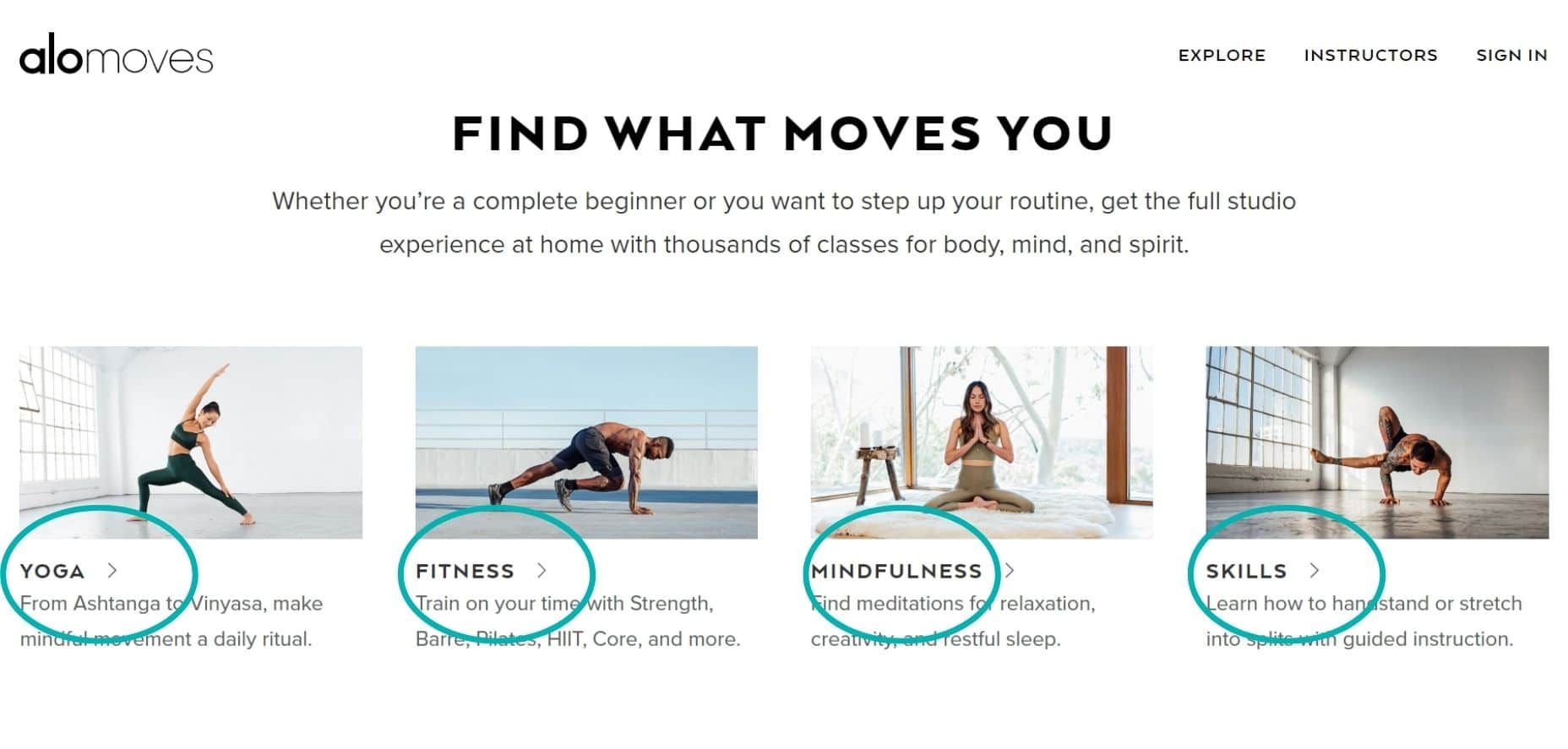 Our Alo Moves review covers all of the fitness classes found on Alo Moves including Barre, Hiit, Meditation, Mindfulness and Yoga. Alo Moves has online workouts for everyone with the world's best teachers including Ashley Galvin, Dylan Werner, Briohny Smyth, Adrienne Kimberley, Patrick Beach and many more famous yoga teachers.