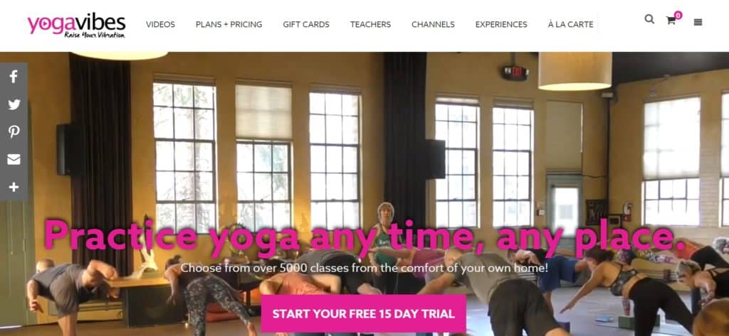 Online yoga review of Yoga Vibes online yoga classes