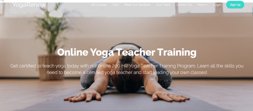 Learn about YogaRenew, one of the best online yoga trainings. Get the details of this online YTT course here and join YogaRenew, one of the best 200 hour online yoga teacher trainings today.
