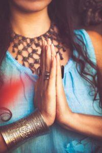 Namaste A Heart Chakra Greeting