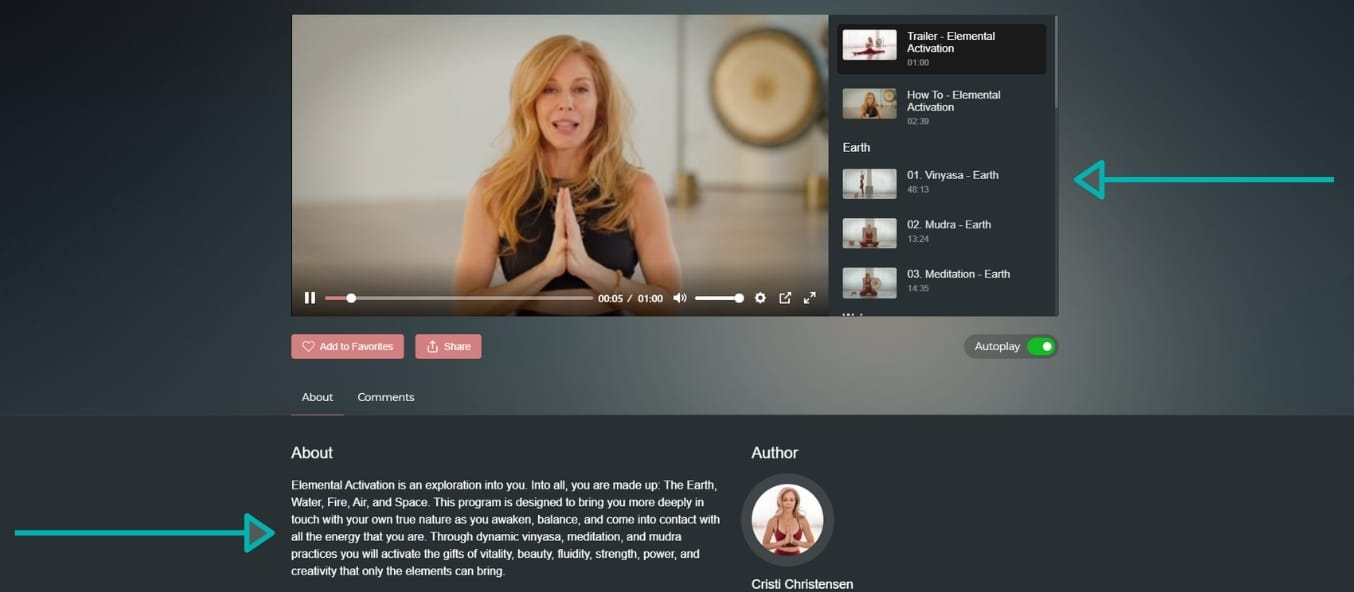 Join a series with Cristi Christensen on TINT yoga and practice Vinyasa online yoga classes on TINT yoga.