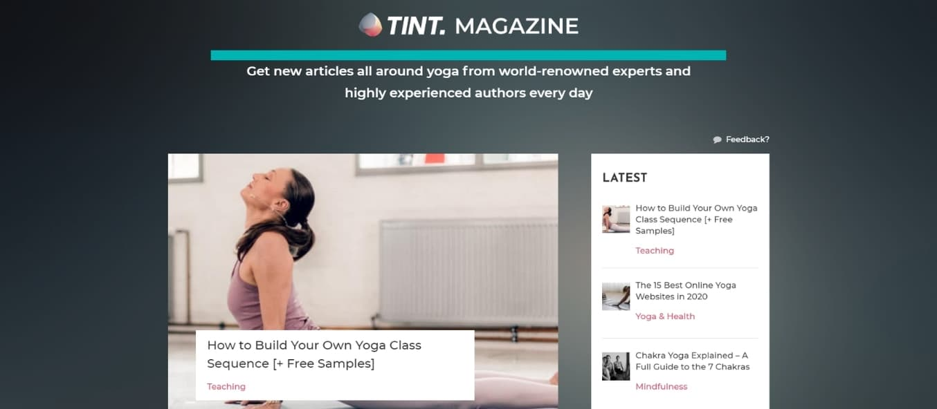 Subscribe to TINT magazine and learn about learn how to build your own yoga sequence.
