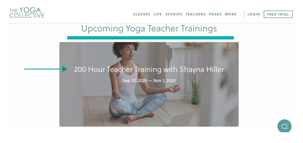 The Yoga Collective offers online yoga teacher training