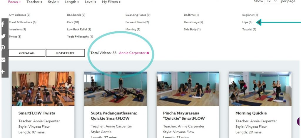 Join online yoga workouts led by Annie Carpenter in a YogaVibes online streaming yoga class. Learn about the classes in our YogaVibes review.