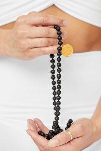 Precious Gemstone Mala Black Onyx Alo Yoga