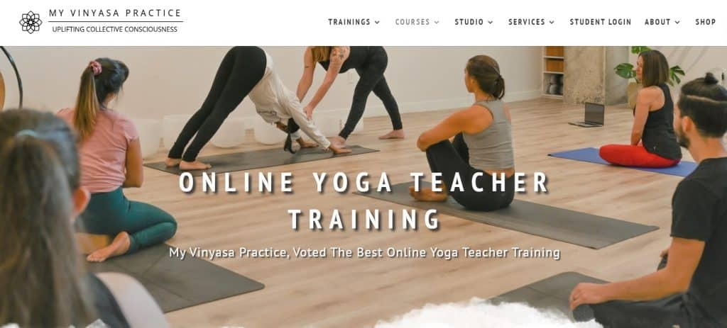Get the details of My Vinyasa Practice online yoga teacher training here and earn your Yoga Alliance certification online with this amazing and inexpensive online YTT.
