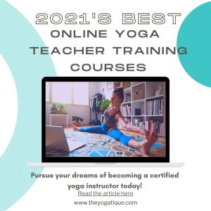 Girl studying yoga in her online yoga teacher training coures