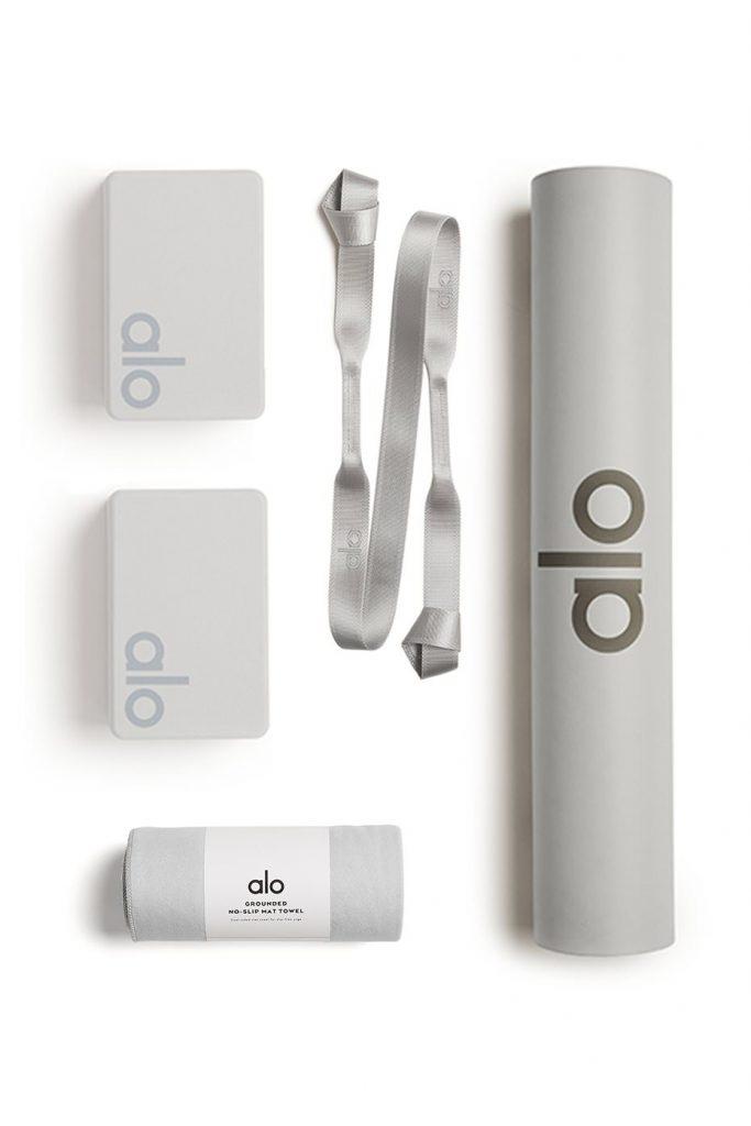 Alo Yoga Essentials Home Studio Set Set In Dove Grey