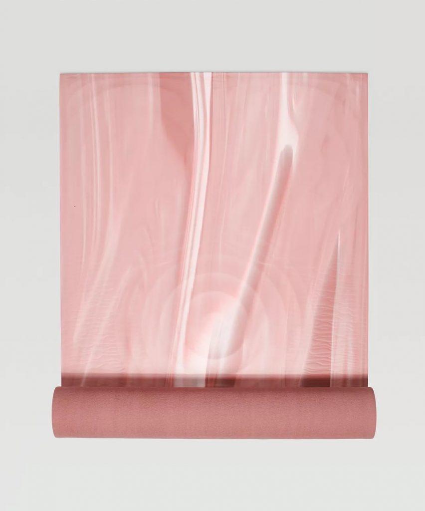 Lululemon Take Form Yoga Mat Pink and White