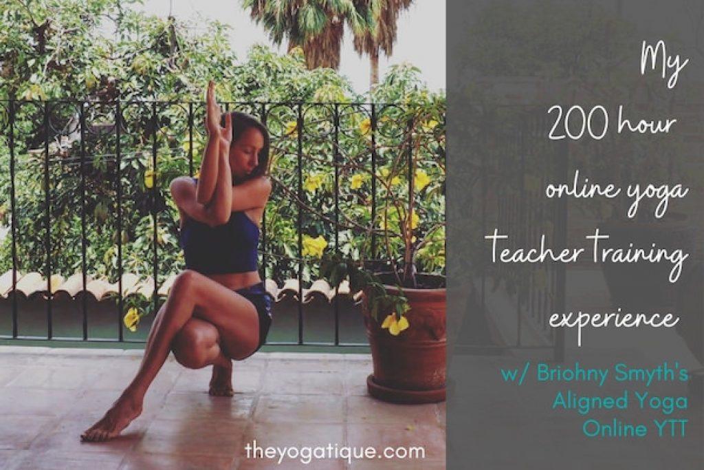Girl doing yoga pose to practice yoga for online yoga teacher training certification.